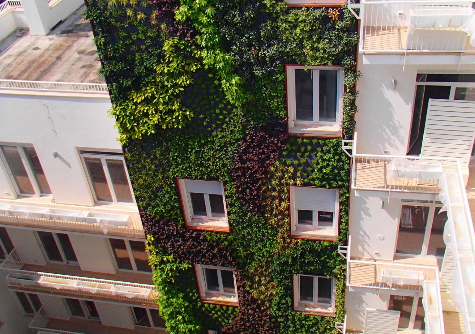 Milano pareti vegetali per palazzo beltrade progettazione giardini soluzioni di qualit per for Giardini verticali milano