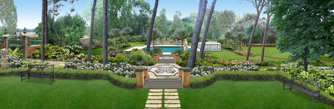 Roma parco privato progettazione giardini soluzioni for Progettazione giardini roma