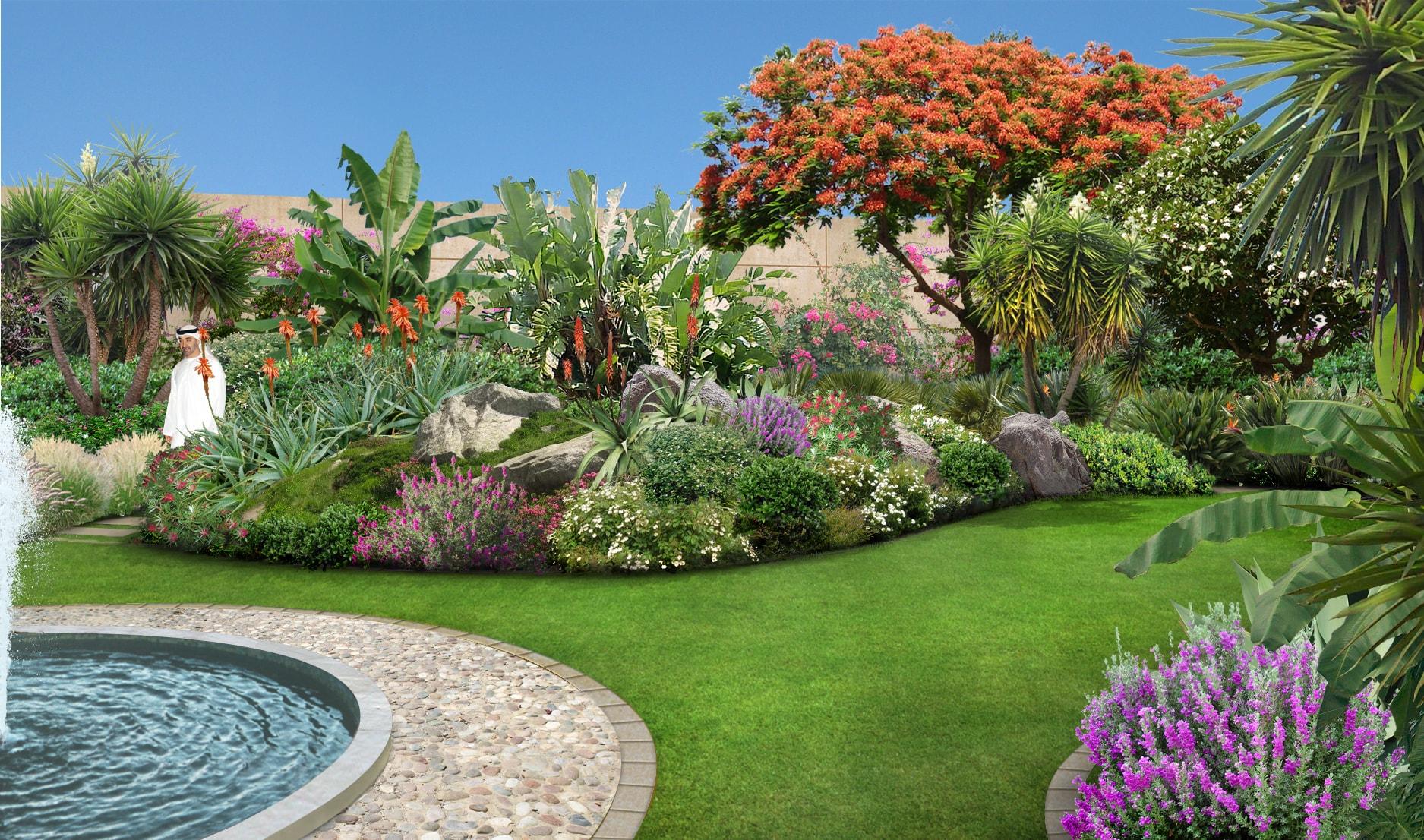 Emirato di abu dhabi un giardino nel deserto - Progetto di un giardino ...