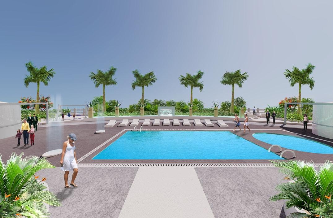 Emirati arabi terrazza a dubai progettazione giardini for Soluzioni giardini pensili